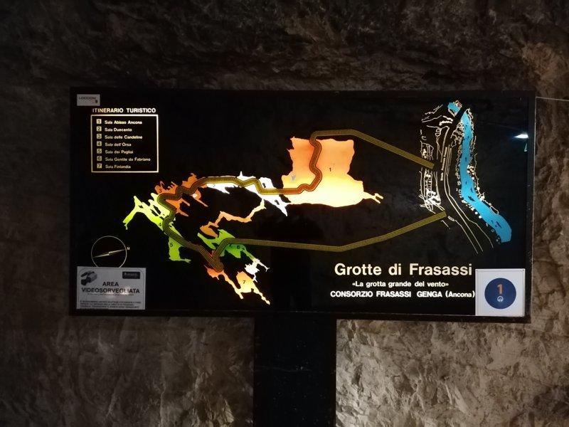 grotte di frasassi mappa
